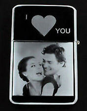 PERSONALISED ANY PHOTO  TEXT ENGRAVED  VALENTINES GIFT LIGHTER LOVE
