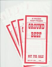 GROUND BEEF FREEZER CHUB BAGS 1LB 1000 COUNT