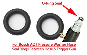 Boach AQT Pressure Washer Quick Release Hose Male End 2 O-Ring Rubber Seals