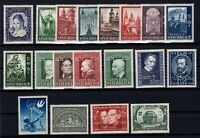 P126413/ AUSTRIA – 1948 / 1952 MINT SEMI MODERN LOT – CV 150 $