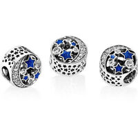 Pandora Charm 791992CZ Midnight Blue Enamel Vintage Night Sky S925 ALE