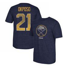 6745c1882 Kyle Okposo CCM Buffalo Sabres Vintage Player Navy Blue N N Jersey T-Shirt  Men s