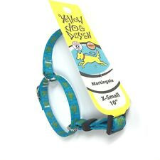 "Sea Turtle Ocean Love Beach Martingale Dog Collar X-Small XS Fits Neck 10"" C5-8"