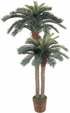 Double Potted Palm Tree Artificial Accent Decoration Outdoor Indoor Office
