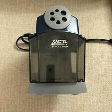 X Acto School Pro Classroom Electric Pencil Sharpener Heavy Duty Blue Grey 1670
