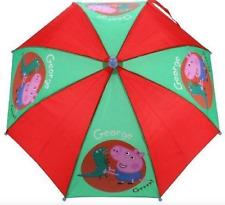 Peppa Pig George Dino Umbrella Toddler Child School Travel Brolly Gift