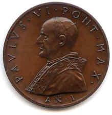 MEDAGLIA UFFICIALE ANNUALE PAOLO VI ANNO I° 1963 GRANDE FORMATO 50 MM