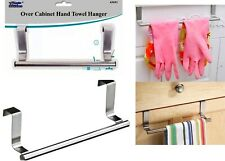Over Kitchen Cabinet Door Tea Hand Towel Rail Holder Hanger Storage 23cm New
