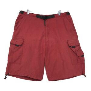 Sonoma Cargo Belted Shorts Mens Size 36 Faded Red Draw String