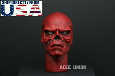 1/6 Red Skull Head Sculpt Hugo Weaving For Captain America Hot Toys Male Figure