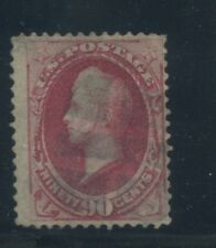 1870 US Stamp #144 90c Used F/VF Cork Cancel Catalogue Value $2250 Certified