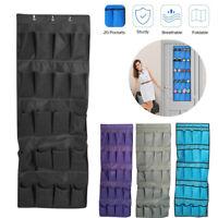 20 Pockets Door Wardrobe Hanging Organizer Bag Shoe Rack Hanger Closet Storage