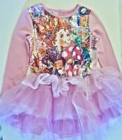 NWT Fancy Nancy Tutu Dress Young Girls 6 ilac/Pink Sequin Top 3 Tier Skirt
