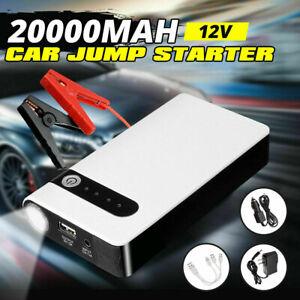 Car Jump Starter Booster 12V 20000mAh Auto Jumper Battery USB Power Bank Charger
