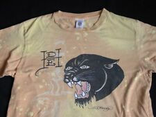 Ed Hardy by Christian Audigier Panther T-Shirt M Medium Distressed Tie Dye