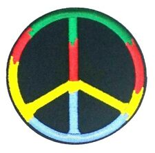 Peace Sign Patch - World Peace colorful (Iron on) 326