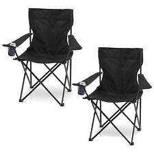 2x FOLDING CAMPING FISHING CHAIR SEAT FOLDABLE BEACH OUTDOOR HIKING PICNIC BBQ