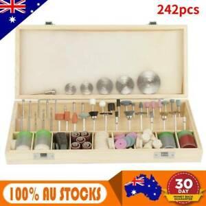 242pc/set Dremel Rotary Tool Accessories Kit Grinding Polishing Shank Craft Bits