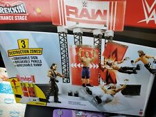 New WWE Wrekkin Entrance Stage Playset-RAW,Action Figure Ultimate Wrestling Ring