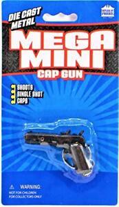 "45 Automatic Pistol Mini Cap Gun Keychain Mega Mini 2.25"" Key Ring Parris New"