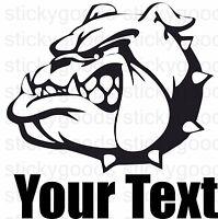 Custom English Bulldog Dog's Name! Car Truck Window Laptop Vinyl Decal Sticker