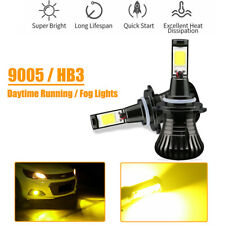 Switchable Strobe Golden Yellow 9005 9006 COB LED Bulbs For Fog Daytime Lights