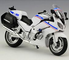 White Yamaha FJR 1300A Police Racing Moto Diecast Motorcycles 1:18 MAISTO Model