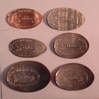 1989  ROCHESTER NUMISMATIC ASSOCIATION  ELONGATED 1C-$1.00 6 COIN SET