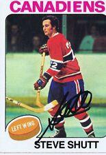 Steve Shutt 1975 Topps Autograph #181 Canadiens