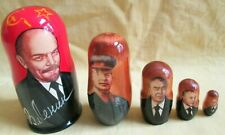 Lenin-Stalin-Brezhnev-Gorbachev-Putin Nesting Doll/5-pieces Set/Russia