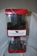 "WILLIAMSTOWN HOME CHRISTMAS FLAMELESS LED PEDESTAL CANDLE TREE BARK 12"" NEW"