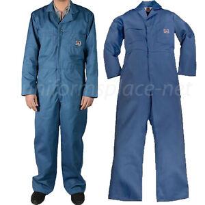Ben Davis Coveralls Postal Blue Men's Long Sleeve Coveralls Cotton blend