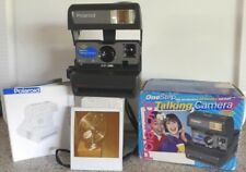 Polaroid 600 Instant Film One Step Talking Camera +Box & User Manual TESTED