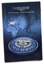 LONGINES 2001 Worldwide Service Booklet Conquest Master Heritage Evidenza Master