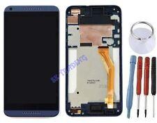 ECRAN LCD + VITRE TACTILE SUR CHASSIS BLOC COMPLETE POUR HTC DESIRE 816 BLEU