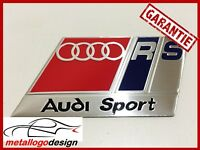 NEW M276 Car Badge / Emblem Emblema AUDI SPORT RED RS 88X45MM