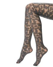 Hue  floral tights with Control Top-COBBLESTONE-Small/Medium