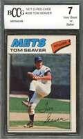 Tom Seaver Card 1977 O-Pee-Chee #205 New York Mets BGS BCCG 7