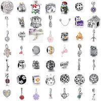 European Charms Silver Cartoon Love Beads Pendant Fit 925 sterling Bracelet