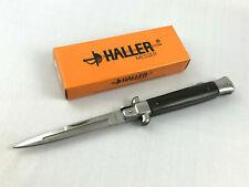 Haller Stiletto Taschenmesser Ebony Messer Griffbeschalung aus Ebenholz - 84684