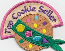 Girl Boy TOP COOKIE SELLER SASH Fun Patches Crest Badge SCOUTS GUIDE