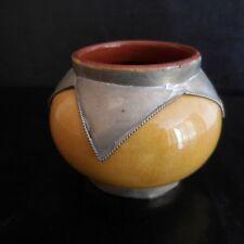 Poterie céramique faïence métal fait main Orient art déco design PN France N2883