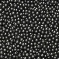 4mm black edible sugar pearls balls dragees cake decorations 25g or 50g