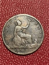 *Key Date*  1871 UK Halfpenny - Great Britian 1/2p Half Penny -Queen Victoria