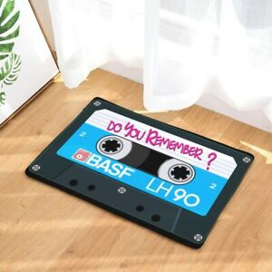 40x60cm Flannel Doormat Bath Mat Rugs Carpets Nostalgic Cassette Tape 3D Carpets
