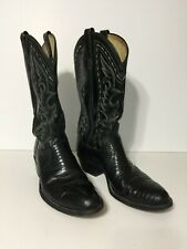 DAN POST Cowboy Boots 10 D Mens EXOTIC Lizard Leather USA Vintage Western Boots