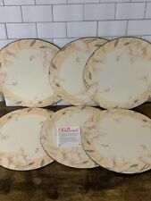 New listing Pimpernel Placemats Round 10 inch Floral Pattern Set Of 6
