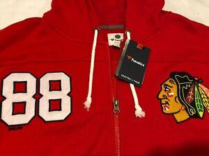 NWT $109.99 Fanatics Mens Chicago Blackhawks Breakaway Zip Hoodie Kane Sz XXL