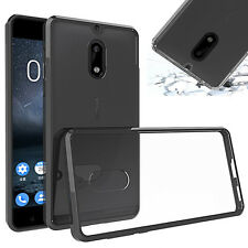 SlimGrip Shockproof Hybrid Protective Case TPU Trim Bumper For NOKIA 5 & 6