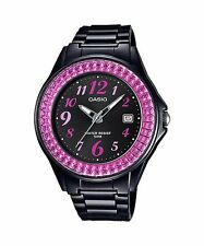LX-500H-1B Black Pink Casio Ladies Watches Resin Band 50M Analog Date Brand-New